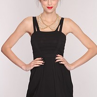 Black Strappy Straps Dress