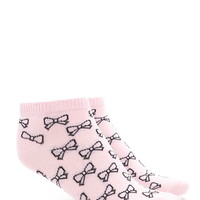 Bow Graphic Ankle Socks