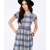 Missguided - Zulina Checked Skater Dress