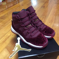Air Jordan 11 Retro Heiress Night Maroon Velvet (GS) 852625-650