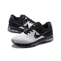 Nike Air Max 2017 Black White KPU Drop Plastic Upper Men Running Shoes - Best Deal Online