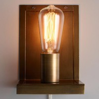 Antique Brass Plate Graham Wall Sconce