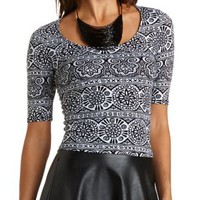 Keyhole-Back Crop Top by Charlotte Russe
