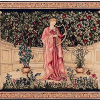 The Minstrel European Tapestry Wall Hanging