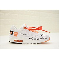Just do it Nike Air Max 1 917691 White Sneaker Shoe
