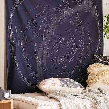 Glow-In-The-Dark Constellation Map Tapestry