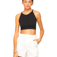 Motel Tailored Short in White Waffle
