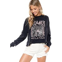 Dreamer World Tour Graphic Top - Charcoal