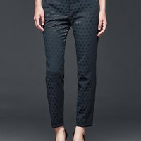Gap Women Jacquard Dot Slim Crop Pants