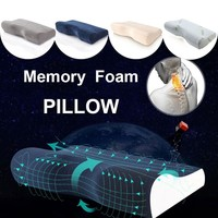 Cotton/Velvet/Bamboo Fiber Orthopedic Pillows For Neck Pain Memory Foam Travel Bedding Pillow with pillowcase