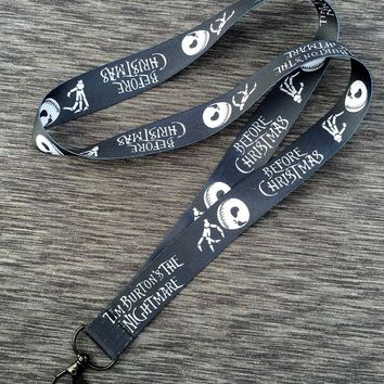The Nightmare Before Christmas Jack Cartoon Neck Lanyard Clip Badge Cards MP3/4 Polaroid Camera Call Phone Key Chain Straps Gift