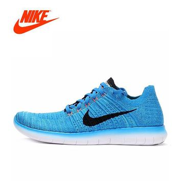 Original New Arrival Official NIKE FREE RN FLYKNIT Men's Running Shoes Breathable Snea