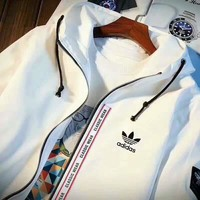 "Fashion ""Adidas"" Zipper  Cardigan  Sweatshirt Jacket Coat  Windbreaker Sportswear I-MLDWX"