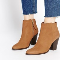 ASOS RAMSDEN Zip Leather Ankle Boots