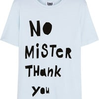 Sonia by Sonia Rykiel - No Mister Thank You cotton-blend T-shirt