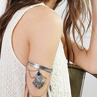 Draped Chain Charm Arm Band