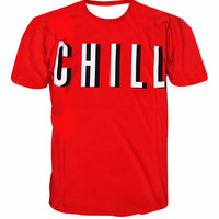 Alisister new letter print chill 3d t-shirt funny character tupac t shirt men women fashion casual tops tees brand clothing 2017