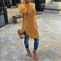 April Wool Long Sweater Dresses