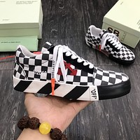 【OFF】OFF WHITE  Men Fashion Boots fashionable Casual leather Breathable Sneakers Running Shoes