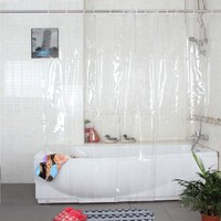 Plastic Pvc Full Transparence Waterproof Thicken Shower Curtains Bathroom Curtains Thicken Curtain 18s
