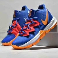 NIKE Kyrie 5 new tide brand men's sports combat wear basketball shoes Blue