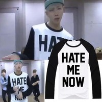 KPOP BTS Bangtan Boys Army new    Boys Rap Monster practice room Same Long-sleeved spring and summer men and women AT_89_10