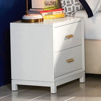 Rowan Bedside, Lacquered Simply White