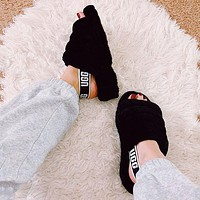 UGG All Match Plush Slippers For Men And Women