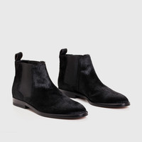 Chelsea Boot - Black Pony hair
