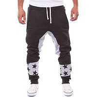 Brand Men Pants Hip Hop Harem Stras Printed Joggers Pants 2017 Male Trousers Mens Joggers Solid Pants Sweatpants