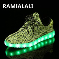 Kids Shoes Girls Sport Shoes For Girls And Boys Kids LED Shoes Child Yeezy Sneakers Ch