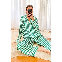Classic PJ Set Peppermint Spearmint Stripe