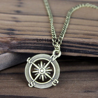 Compass Necklace, Compass Pendant, Compass Charm, The Sailing Times, Everyday Necklace, Friendship, Christmas, Graduation, Bridesmaid Gift