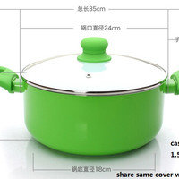 FREE SHIPPING COOKING POT COOKWARE SET pan and pot  nonstick CASSEROLE stock pot stew utensil