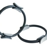 Pilates Medium Tension Resistance Ring; Double Gripped for Muscle Balance