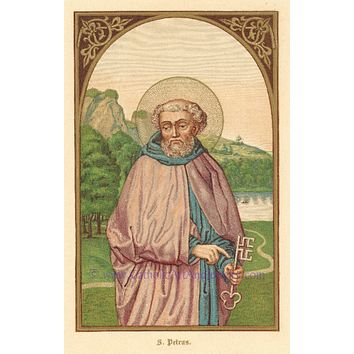 "St. Peter – 8.5x11"" Catholic Art Print"