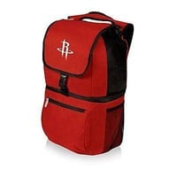 PICN-634001001044-NBA Houston Rockets Zuma Insulated Cooler Backpack, Red