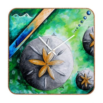 Madart Inc. Sea Of Whimsy Sand Dollar Custom Clock