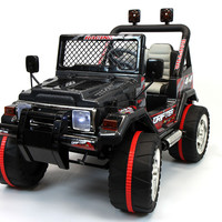 Jeep Wrangler Style 12V Kids Ride-On Car MP3 Battery Powered Wheels RC Remote | Carbon Black