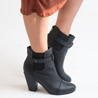 Torch In The Night Black Ankle Booties