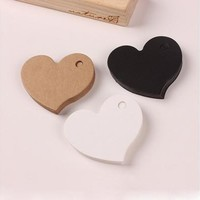 50pcs DIY Heart Gift Paper Label Price Hang Tags Cards Wedding Party Favor [7983381447]