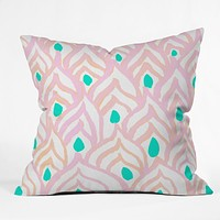 Rebecca Allen Princess Peacock Throw Pillow