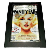 Mini Marilyn Monroe Vanity Fair Framed Art Print Display Memorabilia Man Cave