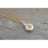 Silver 9mm Bullet Necklace