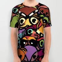 Woodland Critters All Over Print Shirt by Page394