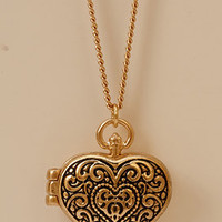 Filigree Heart Locket | FOREVER 21 - 1078075565