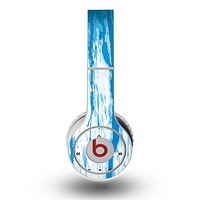 The Running Blue WaterColor Paint Skin for the Original Beats by Dre Wireless Headphones