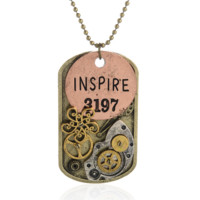 Steam punk gear pendant charm necklace , the perfect gift for the boy !
