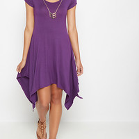 Purple Chevron Necklace Sharkbite Dress