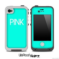 Trendy Green with Pink Skin for the iPhone 5 or 4/4s LifeProof Case